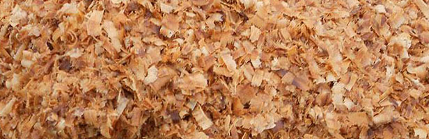 Wood chip is biomass from the wood mill.
