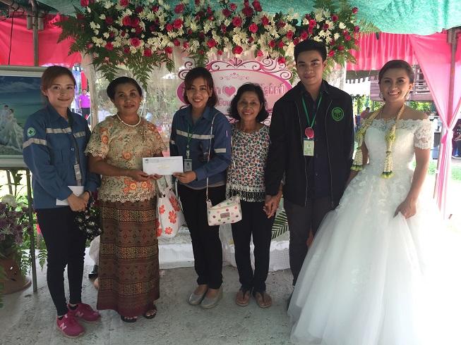 บริษัท สงขลา ไบโอแมส จำกัด ร่วมแสดงความยินดีและมอบเงินในงานมงคลสมรส